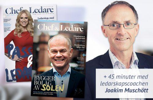 Testa Chef & Ledare: Få 45 min coachingsamtal med Joakim Muschött